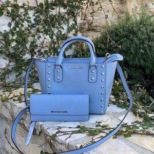 NWT Michael Kors Sm studded handbag&wallet